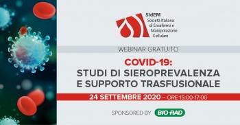 COVID-19: Studi di sieroprevalenza e supporto trasfusionale