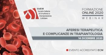 SIdEM FORMAZIONE ONLINE 2020 - Aferesi terapeutica e complicanze in trapiantologia