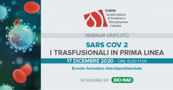 SARS COV 2: i trasfusionali in prima linea