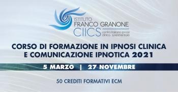 Corso di Formazione in Ipnosi Clinica e Comunicazione Ipnotica 2021
