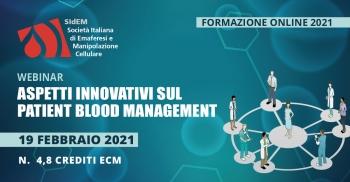 Aspetti innovativi sul Patient Blood Management